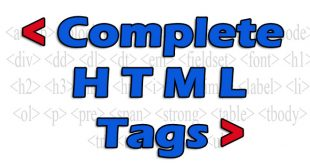 Complete HTML Tags List