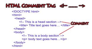 HTML Comment Tag Example