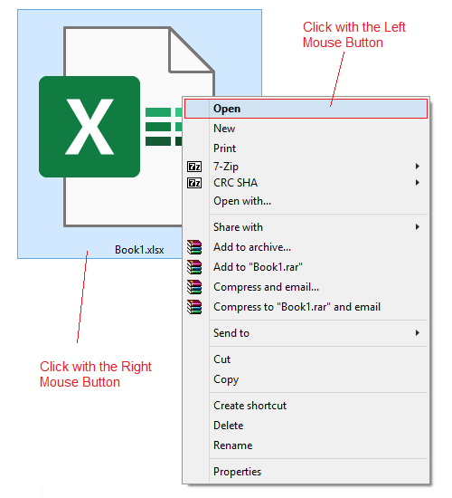 How to Open Excel File