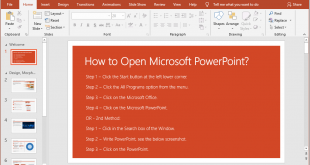 How to Open Microsoft PowerPoint